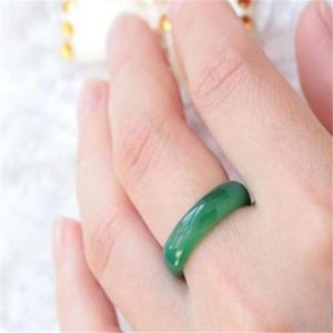 100% natural fine jade in Myanmar mix size ring + free shipping A6 2pcs lot