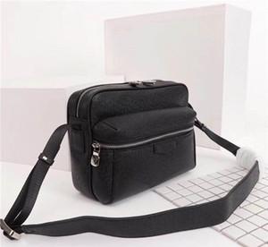 Küresel Ücretsiz Kargo Klasik Lüks Eşleştirme Deri Erkek Çantası Omuz Çantası En İyi Kalite Çanta 30233 Boyut 25cm 20cm 10cm