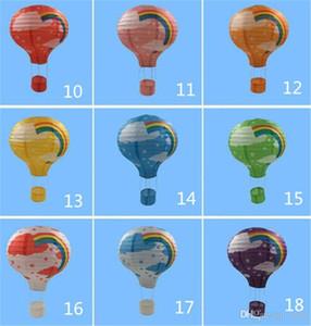 Nouvelle fête de Rainbow Paper Hot Air Balloon Lantern Bar decora Kids Party anniversaire de mariage fournitures de fête Décoration