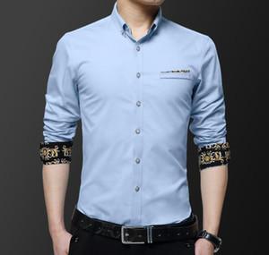 Designer Herrenbekleidung Male Herren Mode-Geschäfts-Kleid Shirts Stickerei-Blumen-Designer Freizeithemd Mens Dress Shirts