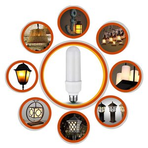 4Model E27 LED Burning Light Flicker Flame Xmas Lamp Bulb Fire Effect