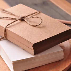 100pcs 3 Colors Blank Vintage Kraft Paper Postcard Message Card Greeting Card for DIY Hand Painted Graffiti 14.5x9.5cm