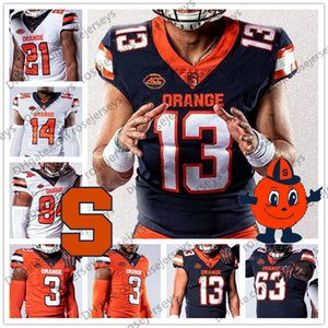 NCAA Syracuse Orange 9. Don McPherson 44 Ernie Davis Floyd Küçük 47 Joe Morris 88 John Mackey 23 Abdul Adams Futbol Jersey 4XL