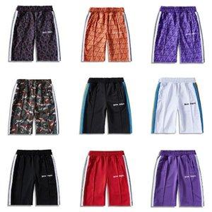 2020SS Palm Ange Tie-Dye Shorts Tendance Shorts de sport pour hommes Pantalons simple rayé Pantalon élastique Taille haute qualité 007