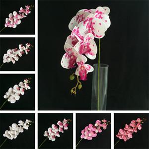 PU seule tige Orchid (9 têtes / pièce) Fleurs artificielles Phalaenopsis Real Touch orchidées papillon pour centres de mariage