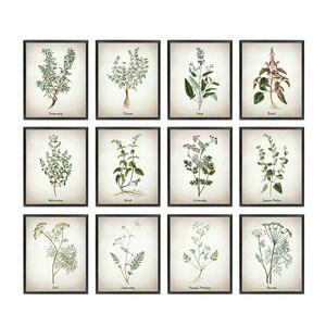 Toile Art Peinture Illustrations Vintage Affiches et Gravures Culinaire s Botanique Cuisine Mur Art Décor