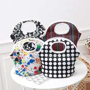 Universal Polka Dots Stripe Bear Insulated Lunch Tote Bag Cooler Box lunchbox Baby Waterproof Handbag Case
