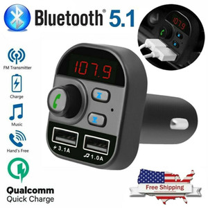 Factory Store Bluetooth KFZ-Ladegerät Wireless Adapter FM-Transmitter MP3-Radio Car Kit 2 USB-Ladegerät
