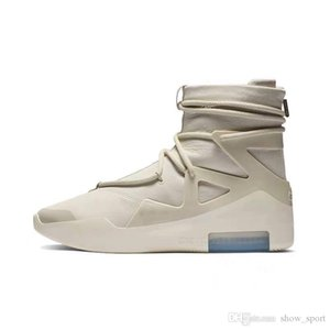 2019 New Released air fear of god 1 Boots Men Women Designer Sneakers Top Quality Fashion Casual Outdoor Shoes Grey Black