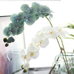96cm 9 Jefes de la mariposa artificial Orquídea súper larga aterrizaje Simulación de la orquídea por fiesta de la boda decoraciones caseras falso Flores