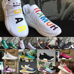 2019 YENI İnsan Yarışı NMDs Pharrell Williams erkekler kadınlar Spor tasarımcısı Ayakkabı kapalı Siyah Beyaz Gri primeknit PK koşucu XR1 R1 R2 Sneaker ayakkabı