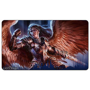Magic Board Game Playmat:Angelic Skirmisher 60*35cm size Table Mat Mousepad Play Matwitch fantasy occult dark female wizard2Trial o