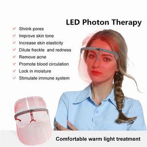 3 얼굴 광자 회춘 페이셜 마스크 뷰티 분광기 스킨 케어 뷰티 여드름 주름 1 LED 치료에