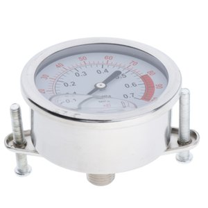 1PC Liquid Filled Pressure Gauge, 304 Stainless Steel Case, Thread 1 4