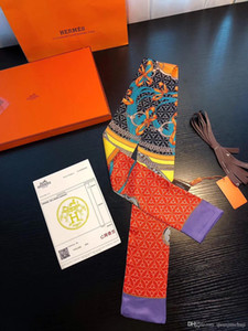 Hochwertige Herbst Winter neue Designer Mode Frauen Tasche Seidenschal weichen Luxusmarken Frauen Schal Handgelenk führen Zubehör Multi-Wear