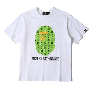 19SS para hombre diseñadores de camisetas camo simios cabeza un hip hop mono baño camiseta suéter de la corto 19BAPE camisas de algodón vetements de la mujer del hombre