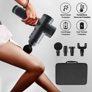 Portatile professionale vibrazione elettrico tenuto in mano Massager del corpo del collo Back Massager Cordless vibrazione profonda il tessuto muscolare Massaggio Gun