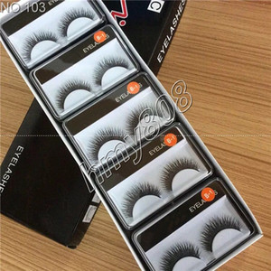 Hot Brand False Eyelashes Handmade Natural Long Curl Thick Soft Fake Eye Lash Extensions Flair Black Color Eyelash Terrier Strip Lashes