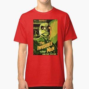 Человек-Невидимка-Классический Научно-Фантастический Фильм Футболка Science Fiction Terror Monster Retro Classic Cinema Vintage