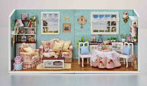 Doll House Miniature DIY Build Kitchen With Furniture 1:24 scale Model