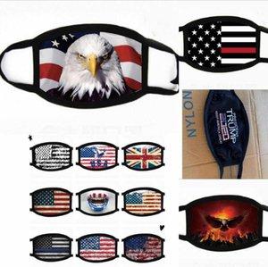 DHL envía Trump 2020 Máscaras anti-polvo del paño de algodón EE.UU. Bandera Hombres Mujeres Ciclismo Máscara lavable Correr Fy9120 máscara protectora montar en bicicleta