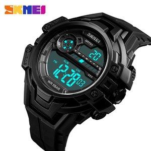 SKMEI Outdoor Sports Watch Men Military Hour Chronograph 5bar Waterproof Wristwatch Alarm Clock Digital Watches Relogio 1383