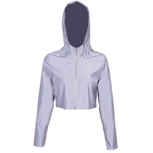 2019 New Arrival Women's Coat Casual Hooded Loose Clothing Designer for Women Running with Polyester Zipper Reflective Cloth S-L Wholesale