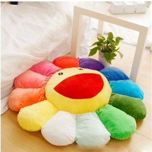 Murakami Takashi girasol felpa cojín juguete suave almohada sofá muñeca lindo dibujos animados cojín trasero 40 cm 50 cm