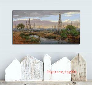 Old Oil Field, Canvas Pieces Home Decor HD Impreso Arte Moderno Pintura sobre Lienzo (Sin Marco / Enmarcado)