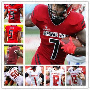 Erkekler NCAA Arkansas Devlet Ark St Kırmızı Kurtlar Koleji Jersey Futbol Jonathan Adams Jr. Omar Bayless Kirk Merritt Carson Coats Odalar Özel
