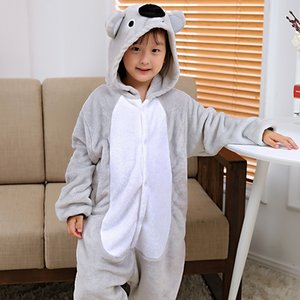Koala children cartoon jumpsuit pajamas thickened flannel home clothes Clothing home clothes cute animal costume