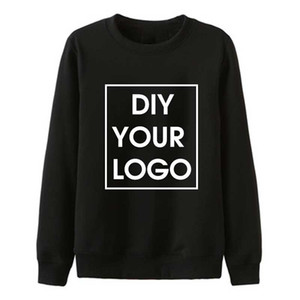 Wholesale Custom hoodie sweatshirt DIY your Print sweatshirts soft cotton Unisex Street wear DropShipping Pullovers Hoodies