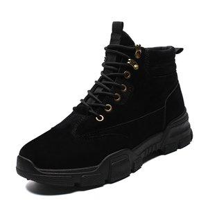 2019 أحذية أزياء الجيش الأسود تنفس سلامة العمل واقية ارتداء أحذية مضاد للانزلاق الأحذية تدريب أحذية عالية الشتاء * 6809