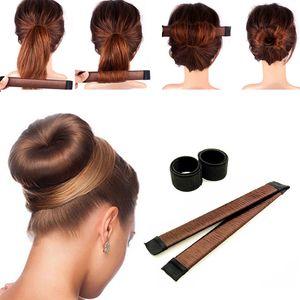 Синтетический парик пончик оголовье Женщины волос девушки Магия волос Bun Maker Bud диапазона волос Scrunchie Прическа Инструмент