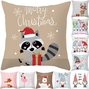 Kapak Karikatür Yastık Kapak Kanepe Araba Ev Dekorasyon için yastık kılıfı atmak TTLIFE Sevimli Hayvan Desen Noel Stili Yastık
