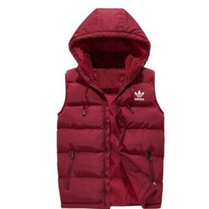 006 New Vests Men Brand Mens Sleeveless Jacket Cotton-Padded Men's Vest Autumn Winter Casual Coats Male Waistcoat