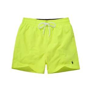 New products Fashion Embroidery Small Horse luxury Men's Beach shorts Beach Surf Swim Sport Casual Pure color man Swimwear