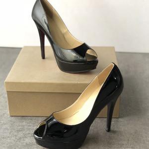 Sandali tacchi alti da donna Designer shoes Tacchi bassi rossi Cuoio genuino Pummps alta 13 cm Scarpe da donna sexy Peep Toes Sandali Scarpe da sposa