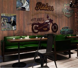 custom size 3d photo wallpaper living room bed room kids room cafe bar retro motorcycle 3d picture sofa TV backdrop wallpaper wall sticker