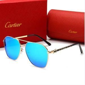 Yaz moda 20 ss kadın gözlük UV koruma erkekler Lüks Designer Brand 1L polarizeCartier güneş gözlüğü 1LS