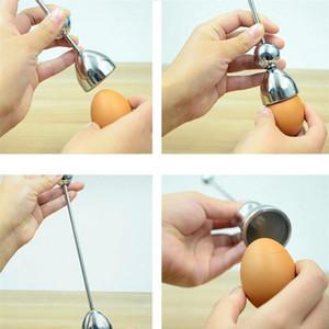 Uovo Topper Egg Cracker Snipper acciaio della cucina utensili in acciaio taglierina Opener Scissor Tijera Clipper Shell Bollito Cotto