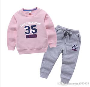 2019 nouveau printemps costume pour les enfants et les sports d'automne pas. L'ensemble 35 deux pièces pour les enfants de pantalons enfants hoodie version coréenne mis