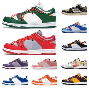 nike SB Dunk low white off causual shoes men women travis scott Raygun Tie Dye 2020 VALENTINE DAY new designer sneakers trainers