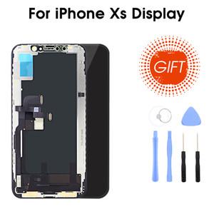 Yepyeni Premium Kalite Esnek / Sert OLED / TFT Ekran için iPhone XS Ekran 3DTouch Ekran ile Değiştirme
