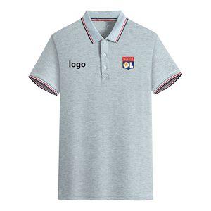 LYONNAIS Football Club Summer Men's Slim Fit Golf Polo T-Shirt Short Sleeve Polo Casual T shirt Sportswear