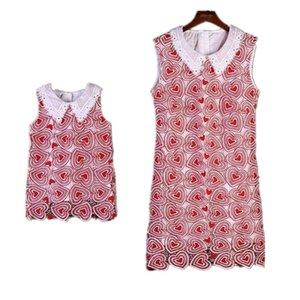 Maman Fille Dentelle Robes Mère Filles Party Girls Dress enfants Robe femmes Robe Taille Plus 2020 Famille match Tenues Vêtements