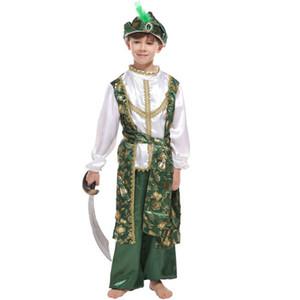 상해 이야기 아라비안 왕자 이스트 술탄 Genie Child Boys Costume