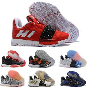 James Harden 3 Vol. 3 3S III MVP BHM Siyah Boys Ay Erkek Basketbol Ayakkabı Harden Ayakkabı Doğa Sporları Eğitim Sneakers Boyut 40-46