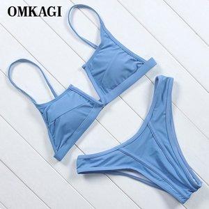 OMKAGI Marken Sexy Push-Up-Bikinis V - förmigen Badeanzug Bademode Damen Micro Bikini Set High-Cut-Badeanzug, Beachwear
