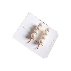 New Pearl Metal Hairclips Mulheres Hair Clip Hairpin Meninas Hairpins Barrette Hairgrip Bobby Pin Acessórios Para o Cabelo Dropship